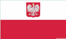 POLAND WITH CREST - 8 X 5 FLAG